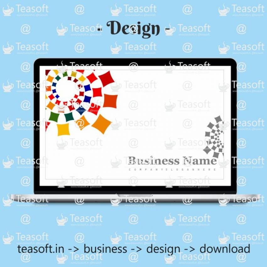 Business Visiting Card Front Back Vector Design 1