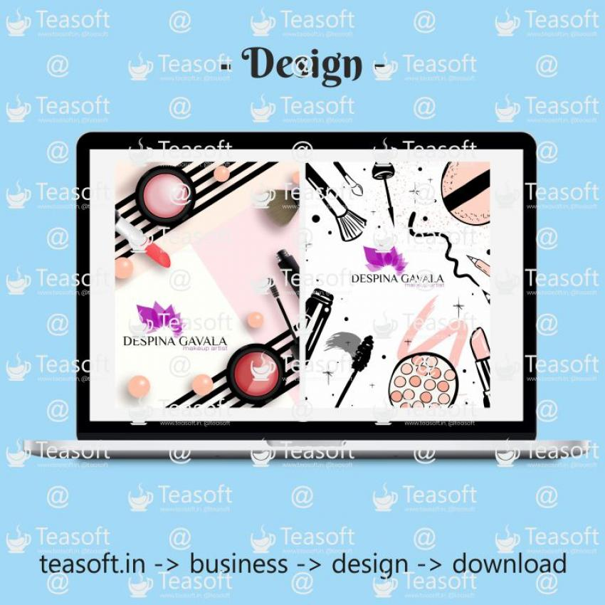 Catalogue Front Back Cover Vector Design template 1