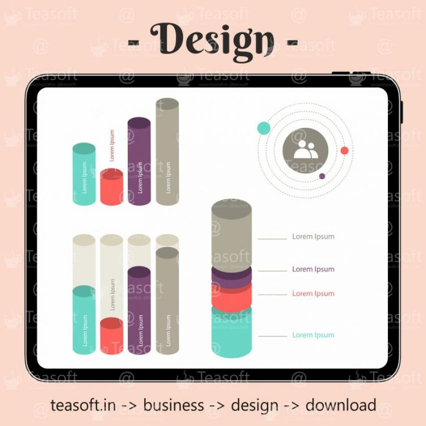 Online Chart Graphic 2 Illustration Vector Design template