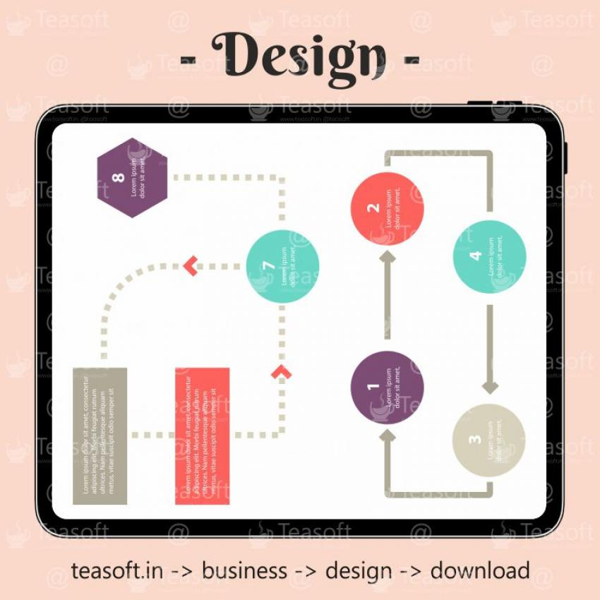 Online Chart Graphic 5 Illustration Vector Design template