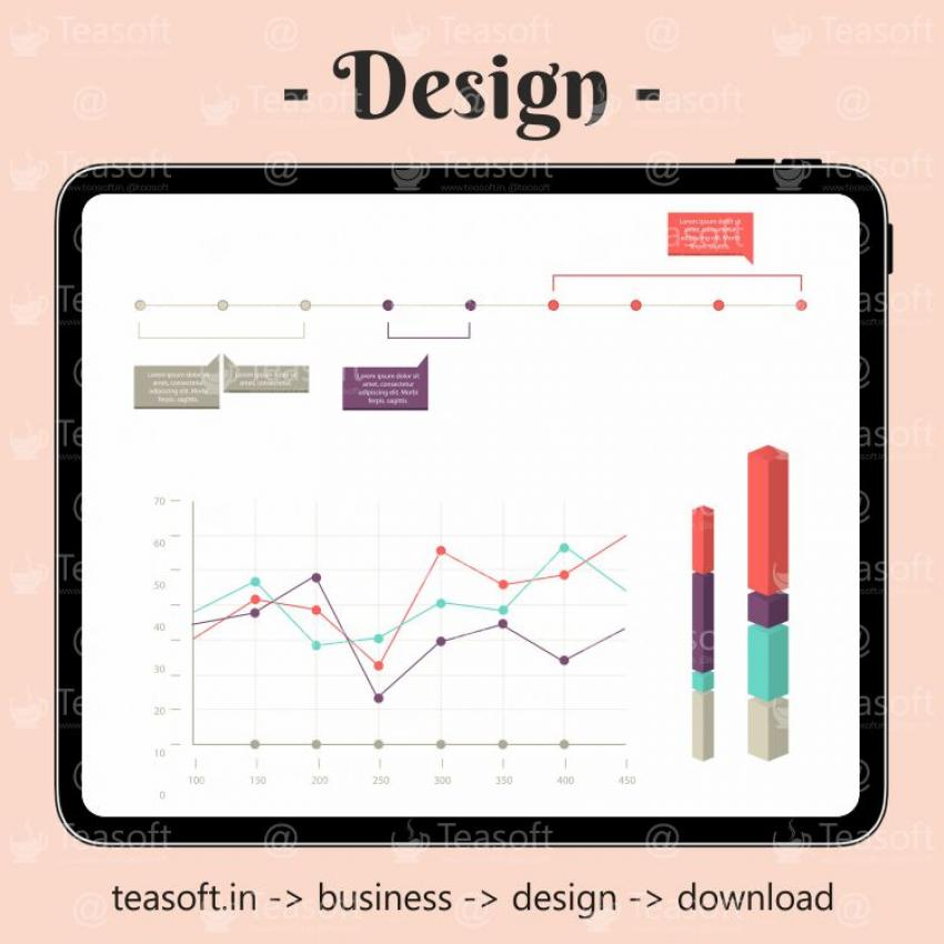 Online Chart Graphic 9 Illustration Vector Design template