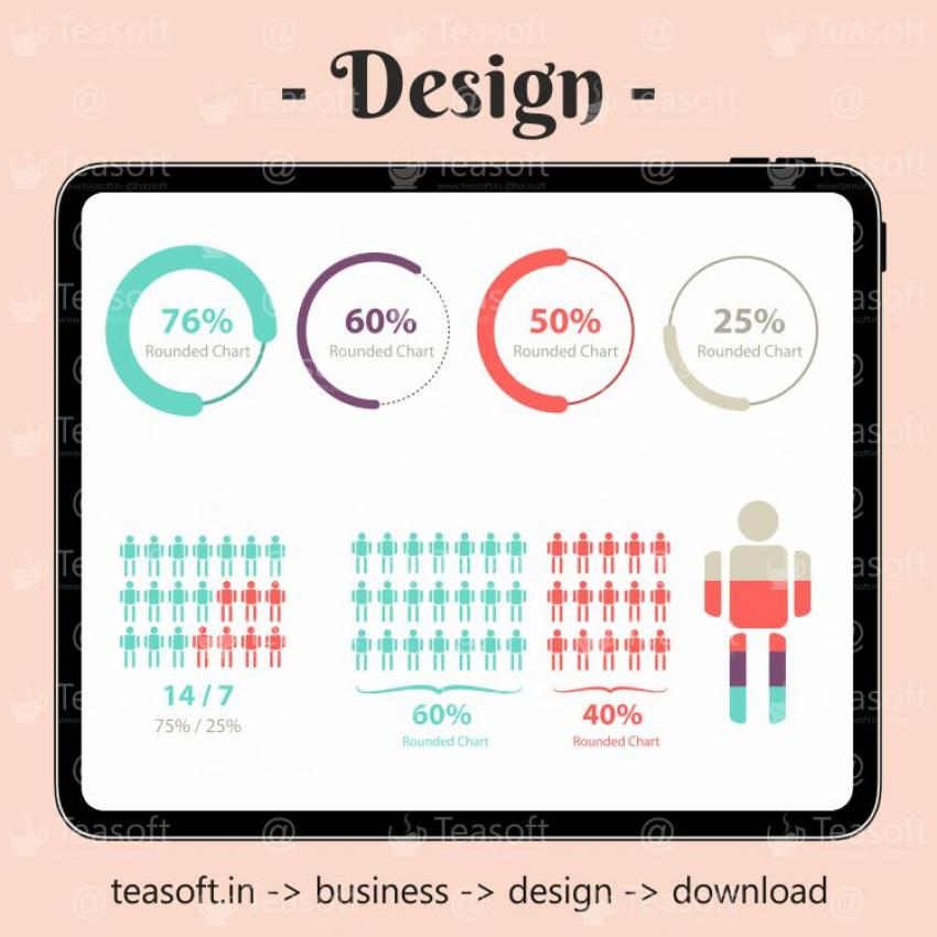 Online Chart Graphic 10 Illustration Vector Design template