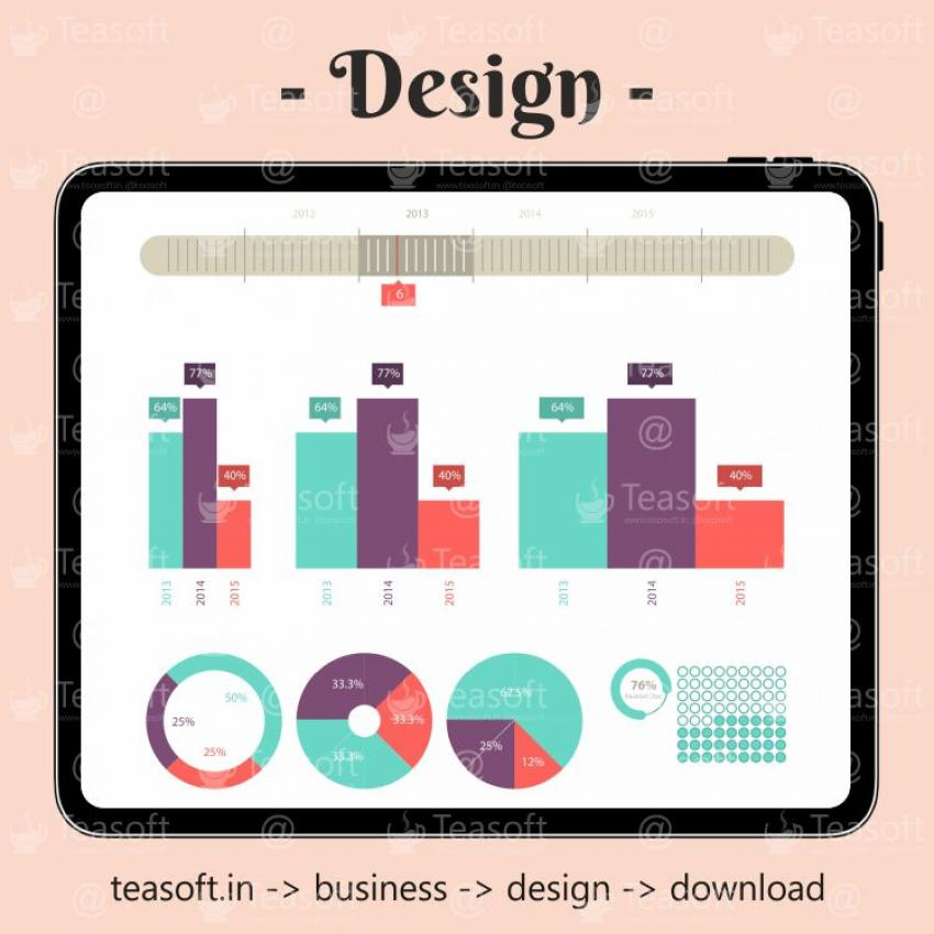 Online Chart Graphic 11 Illustration Vector Design template