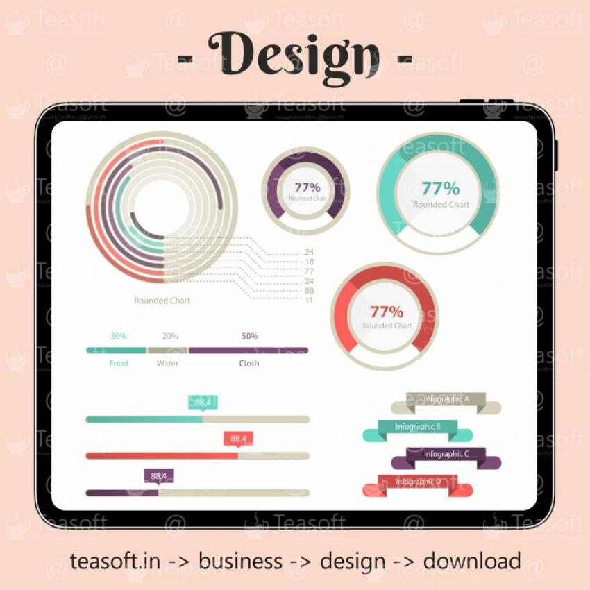 Online Chart Graphic 13 Illustration Vector Design template