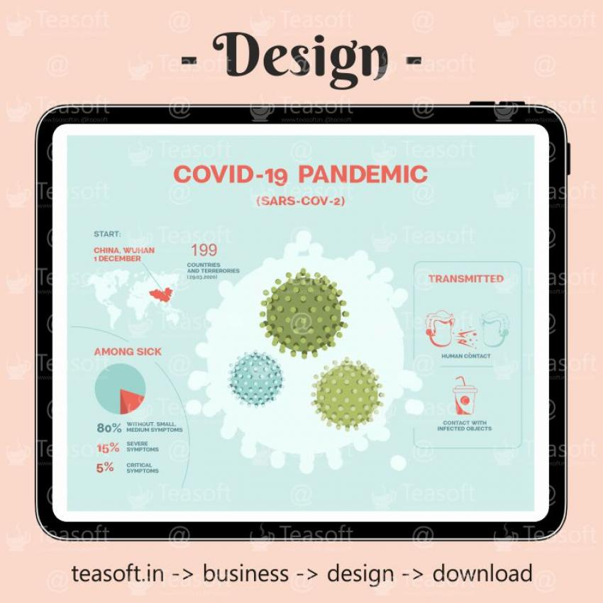 Coronavirus Infographic Illustration Vector Design template