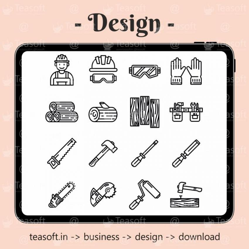 Industry Icons Logo Illustration Vector Design template