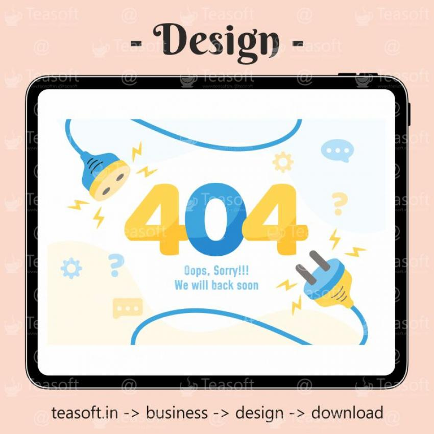 404 Not Page Found Illustration Vector Design template