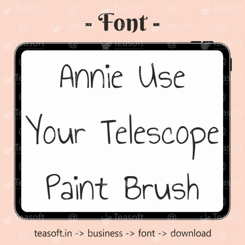Annie Use Your Telescope Handwriting Beautiful & fast Font