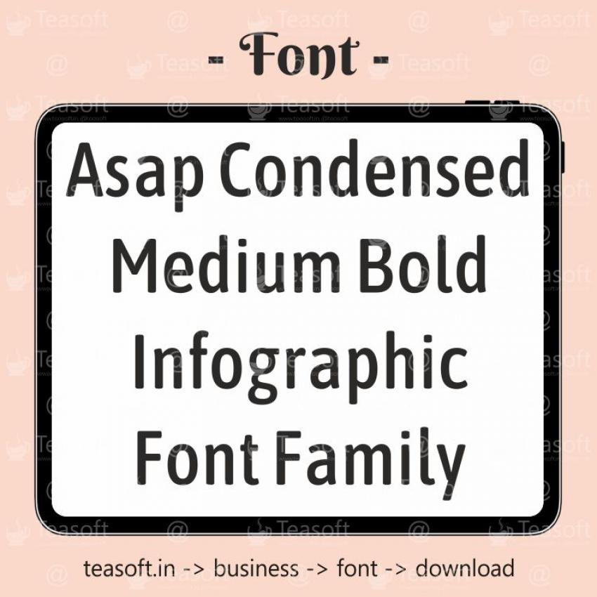 Asap Condensed Bold Family Handwriting Beautiful & fast Font
